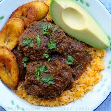 Seco de carne de res ecuatoriano