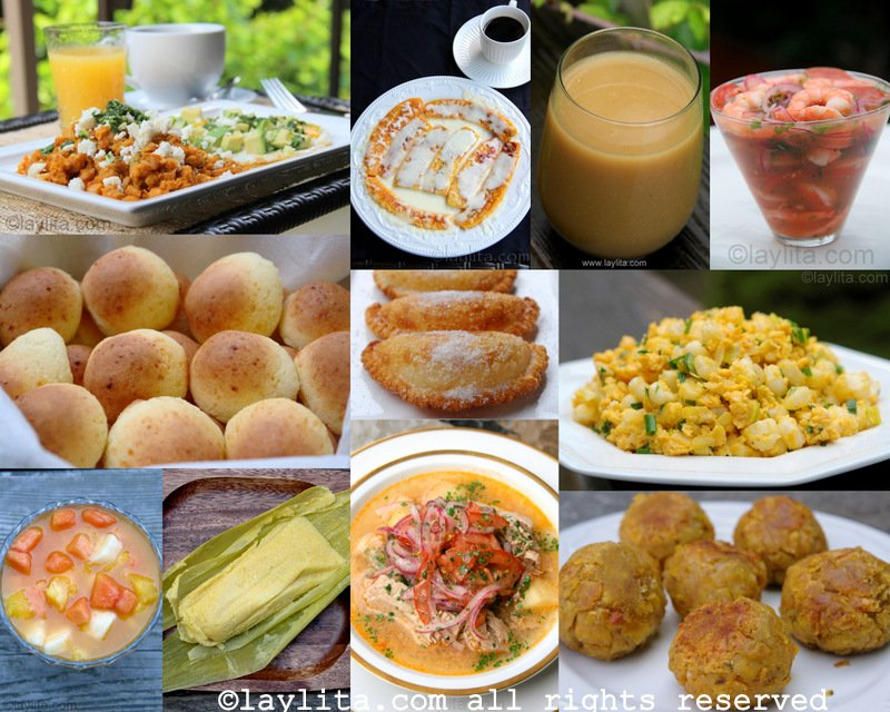 Recetas de desayunos ecuatorianos for Opciones de cenas saludables