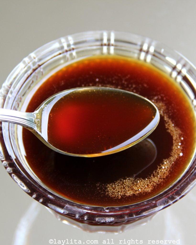 Miel de panela o miel de piloncillo