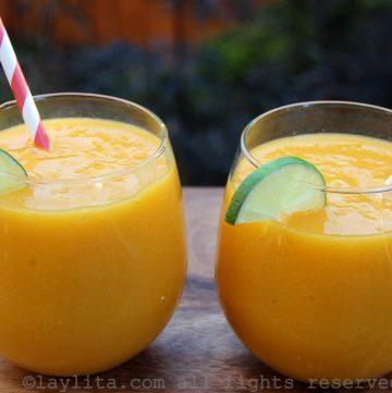 Receta - Batido de mango y maracuyá