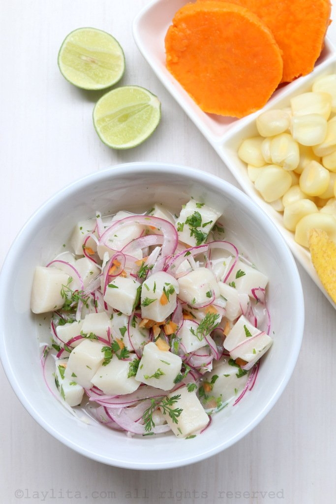 ingredientes ceviche peruano