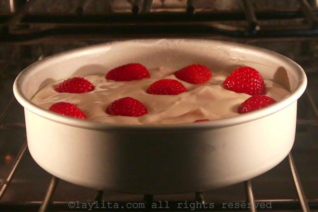Pastel o bizcocho de fresa