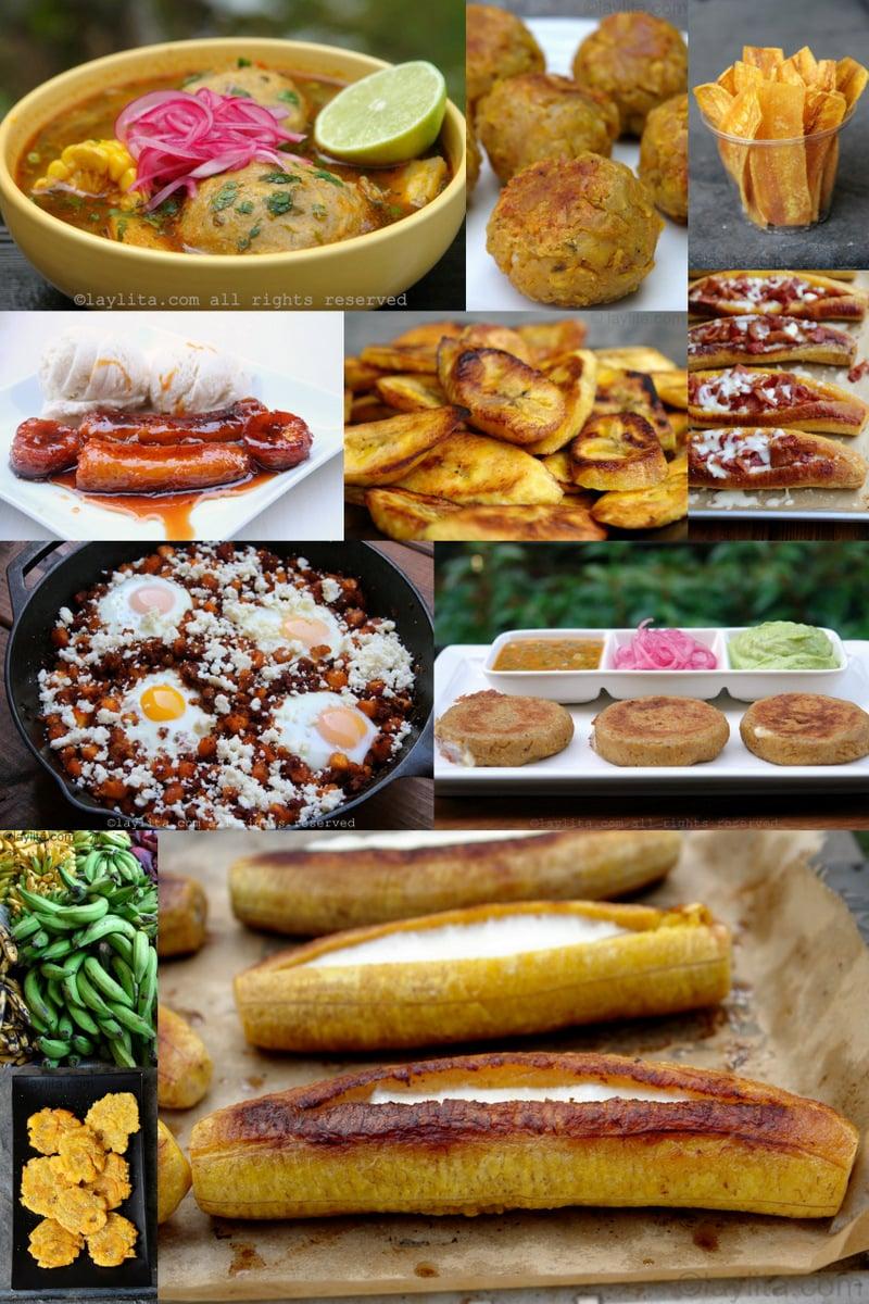 10 recetas con plátanos maduros y verdes