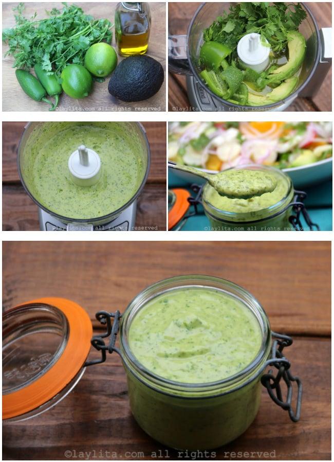 Como preparar aderezo de aguacate para ensaladas
