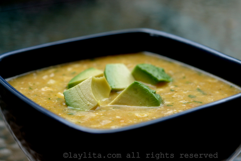 Locro o sopa de quinua con queso