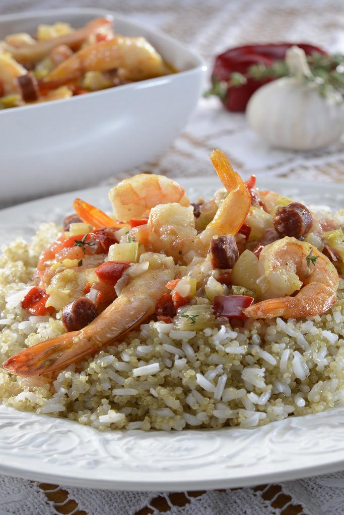 Pilaf de quinua con arroz