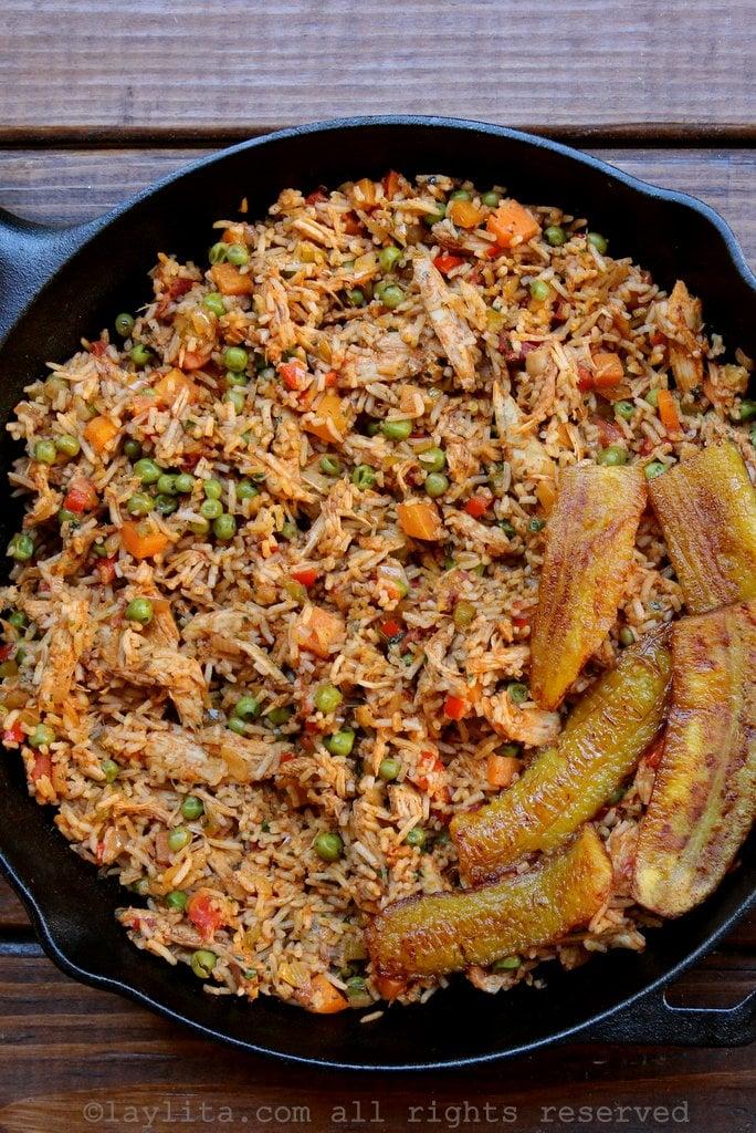 Receta fácil del arroz con pollo