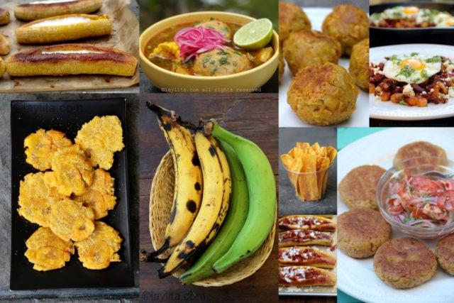 Recetas con plátanos maduros y verdes - machos