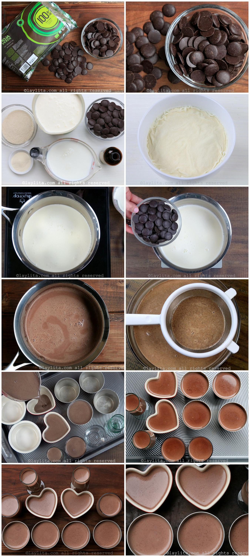 Como hacer panna cotta de chocolate