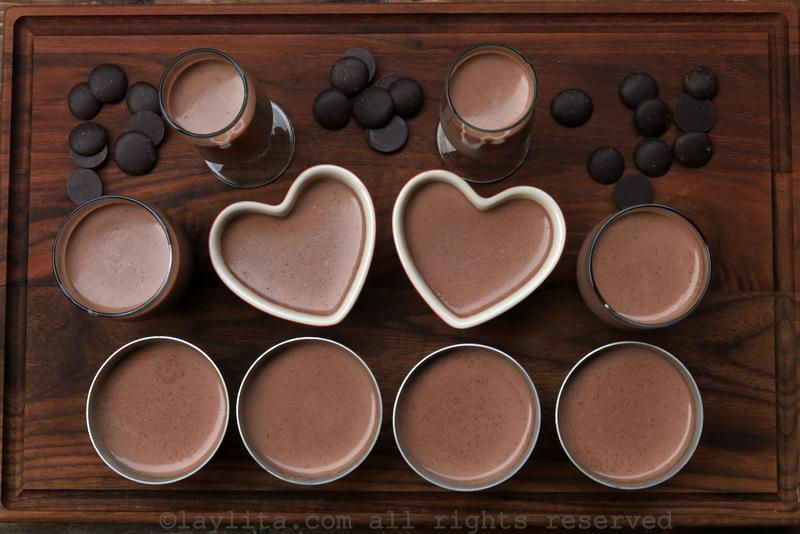 Panna cotta con chocolate