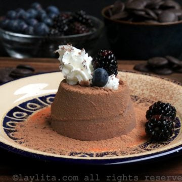 Panna cotta de chocolate negro