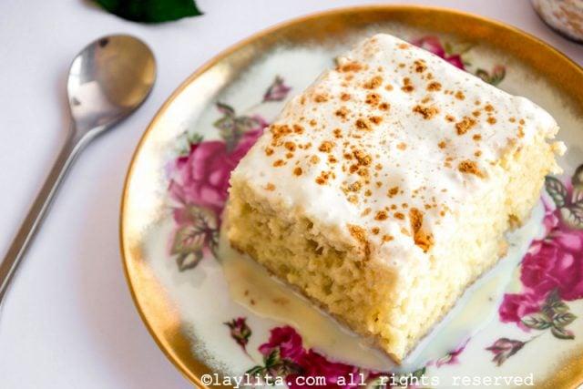 Receta del pastel o torta tres leches