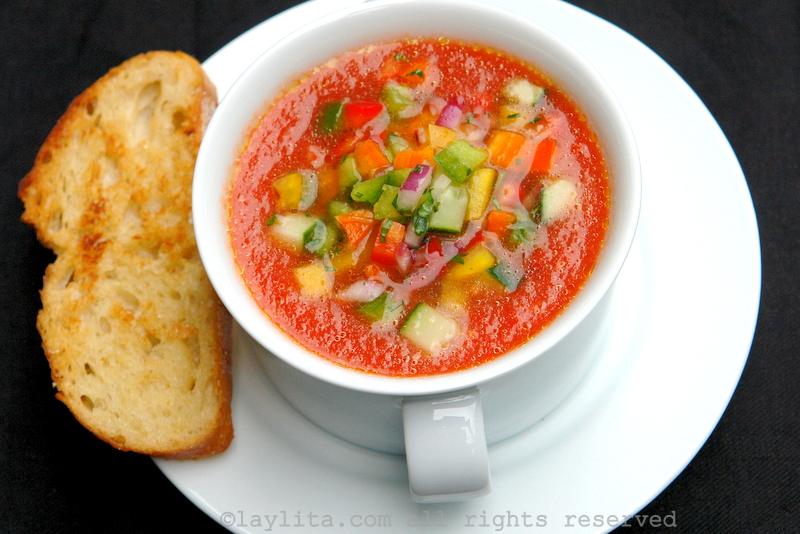 Sopa fría de tomate: Gazpacho