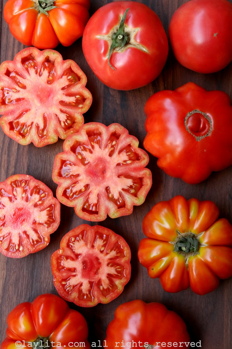 Tomates veraniegos para preparar gazpacho
