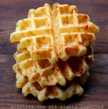 Receta de los gofres o waffles de pan de yuca