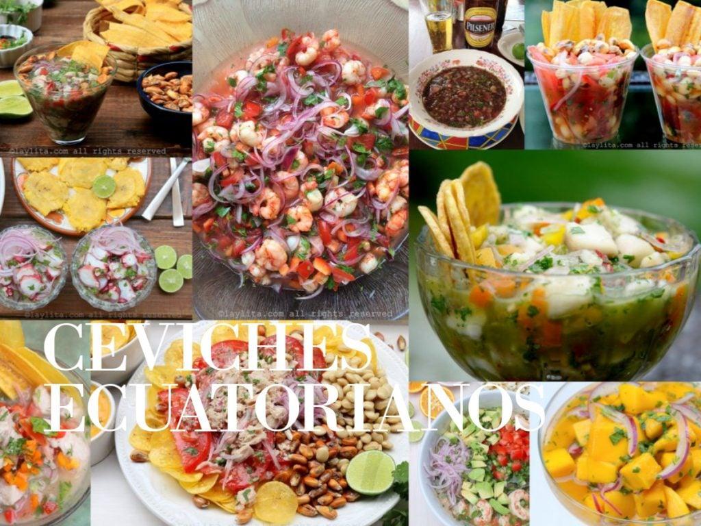 Recetas para preparar ceviches ecuatorianos