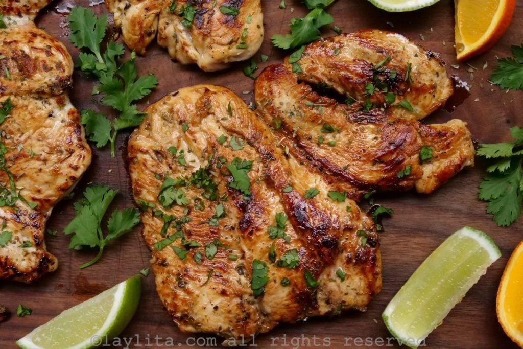 Pollo asado a la plancha