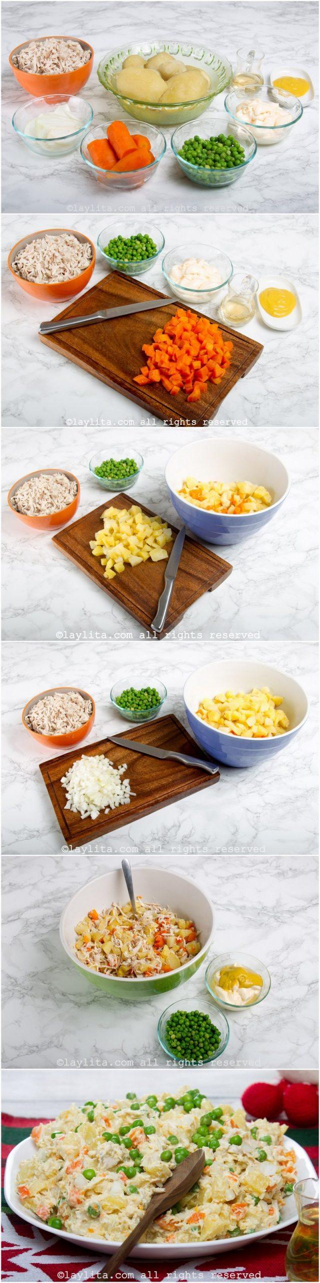 Como hacer la ensalada de gallina venezolana