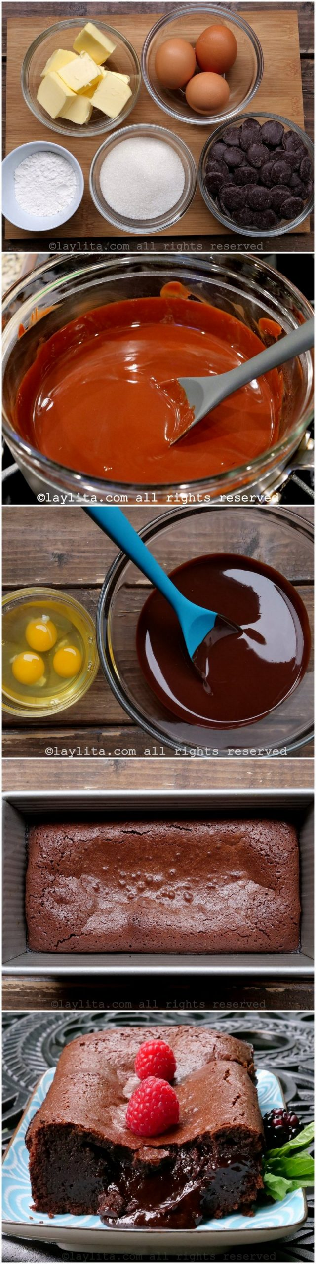 Como hacer un pastel fundido de chocolate estilo francés