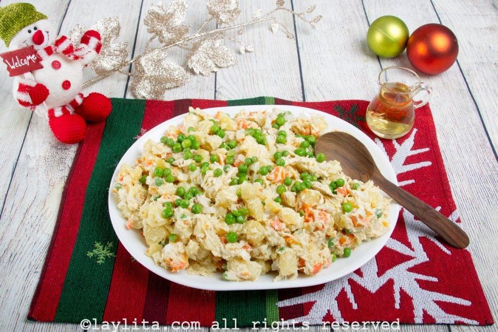 Ensalada de gallina para Navidad
