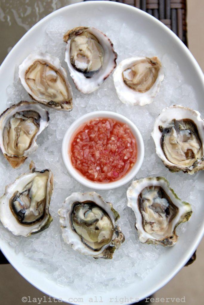 Mignonette -Vinagreta de chalotas o echalotes para ostras y ostiones