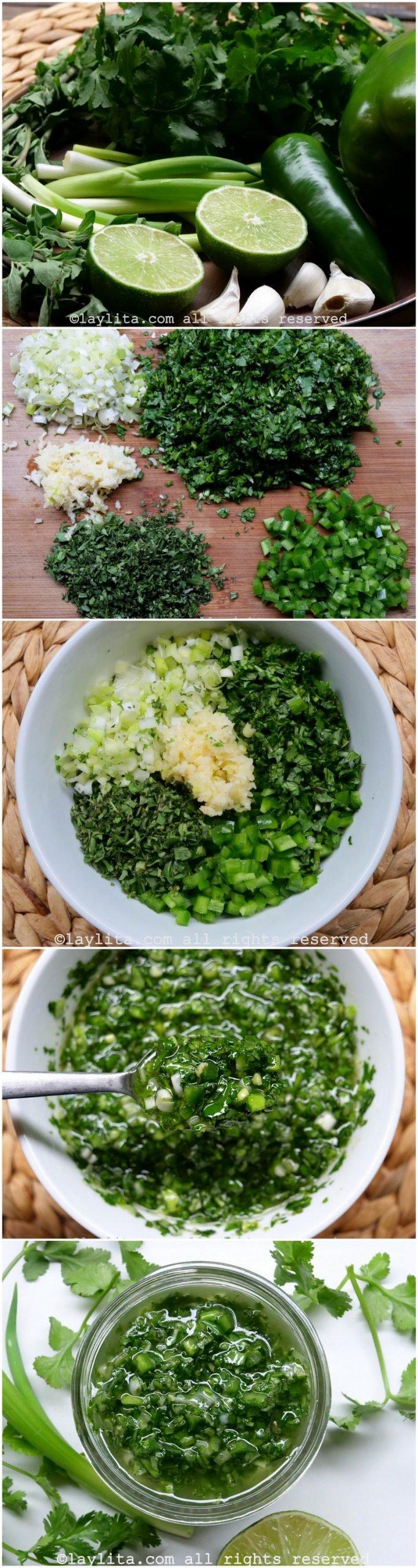 Como hacer chimichurri de cilantro