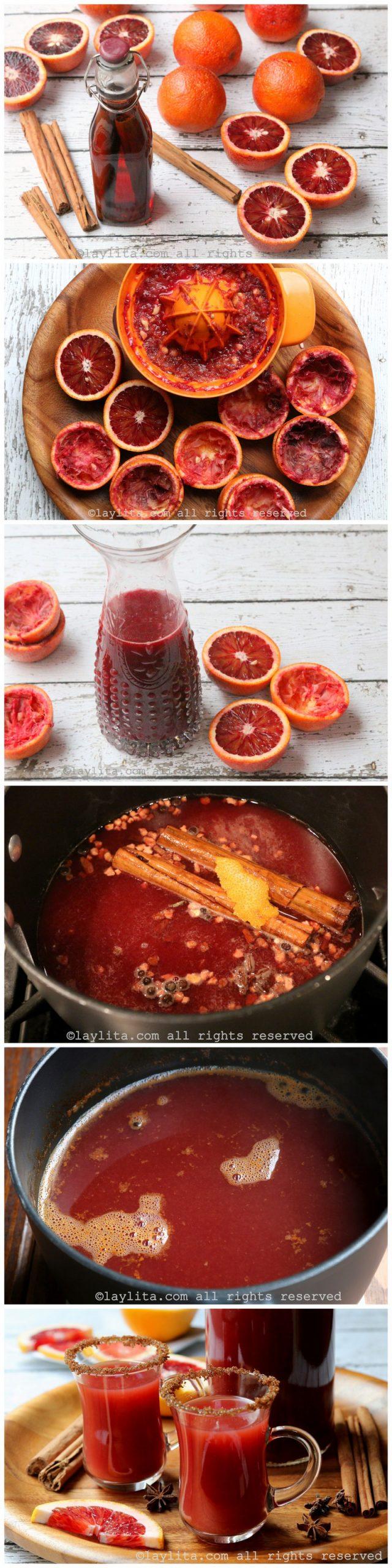 Como hacer canelazo ecuatoriano con naranja roja