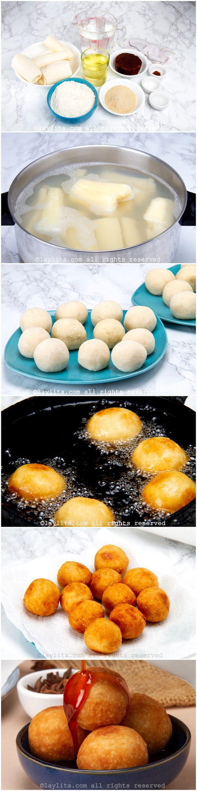 Como preparar buñuelos de yuca
