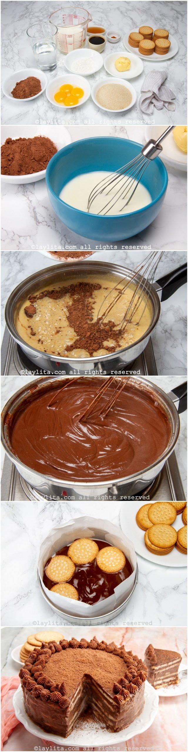 Como preparar la marquesa de chocolate venezolana - paso a paso