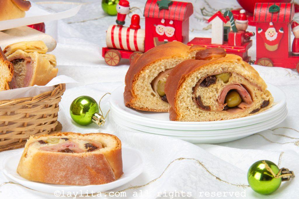 Pan de jamón para Navidad