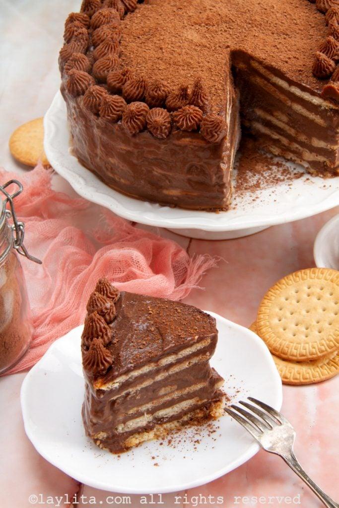 Torta fría marquesa de chocolate