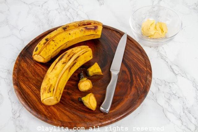 Paso-01 - arepas de plátano
