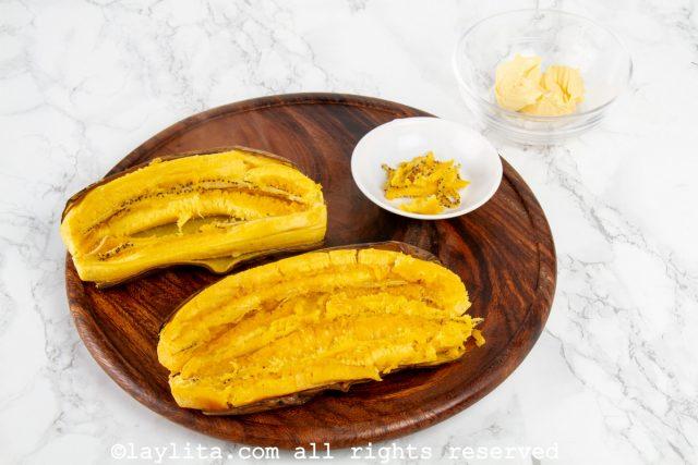 Paso-02 - arepas de plátano