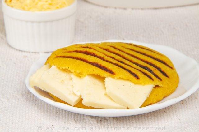 Receta de las arepas de plátano