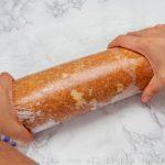 Preparación del bizcocho para el Brazo Gitano