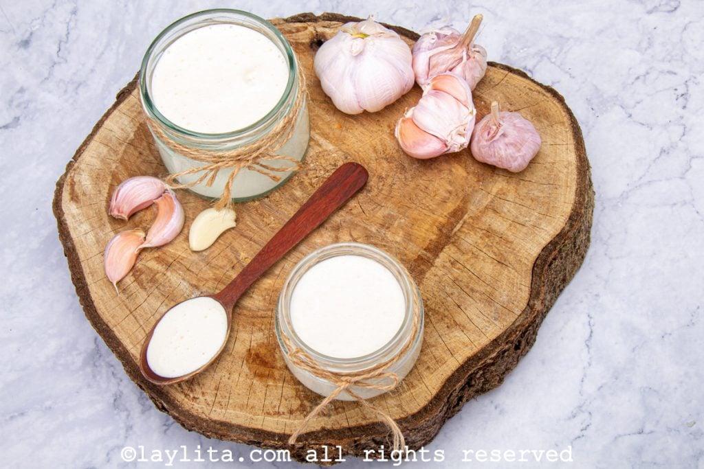 Salsa de mayonesa de ajo
