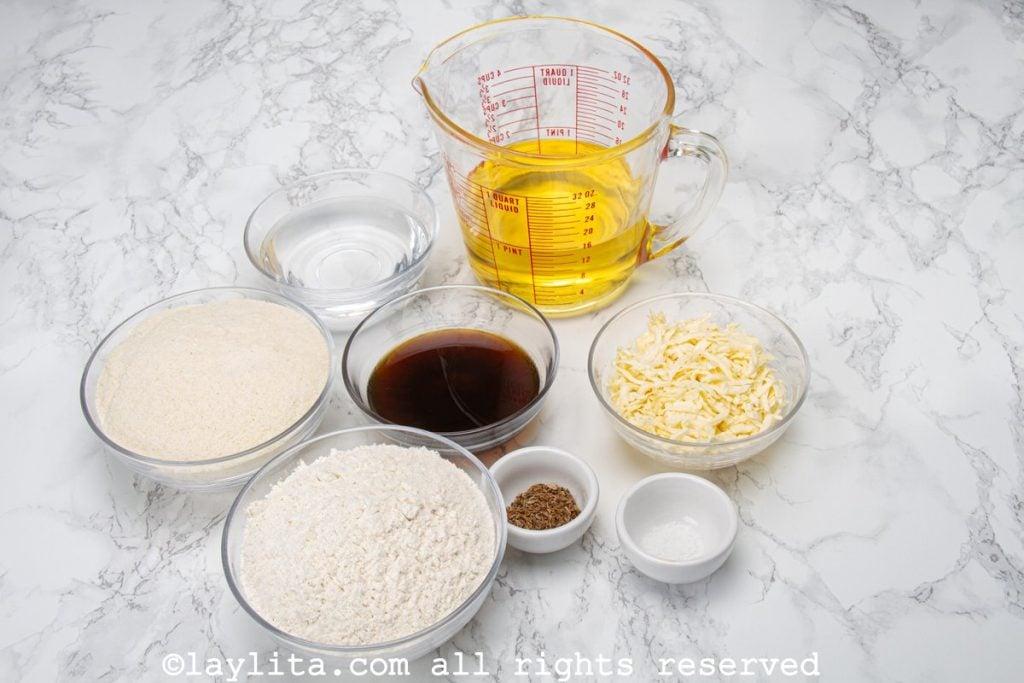 Preparación de las arepitas dulces de anís