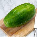 Lechosa verde o papaya verde para el dulce de lechosa