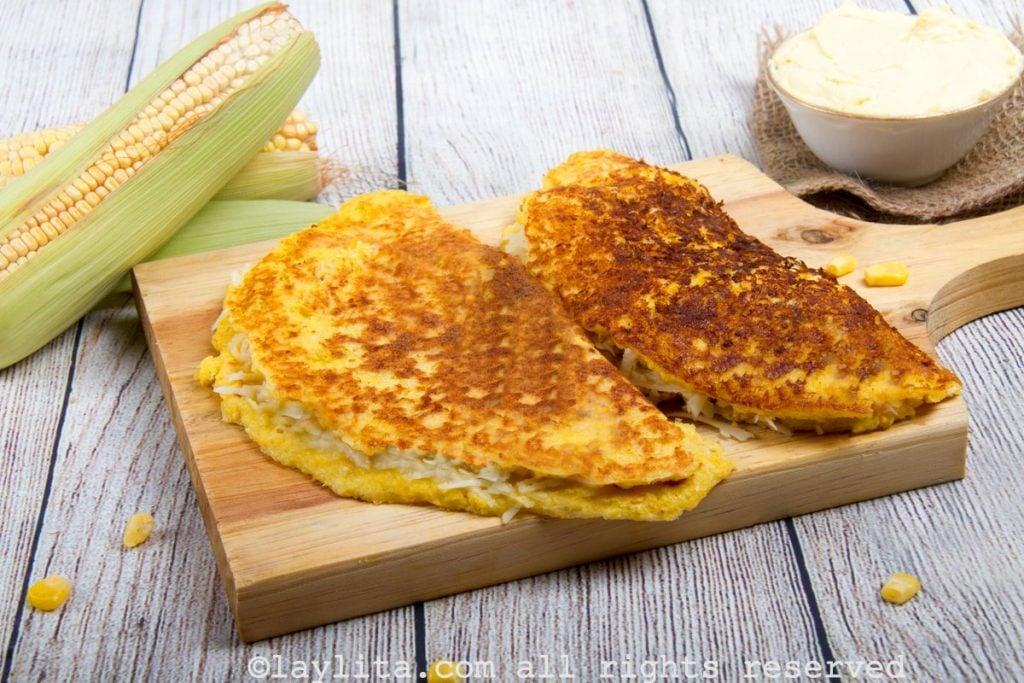 Cachapa venezolana de budare - receta fácil