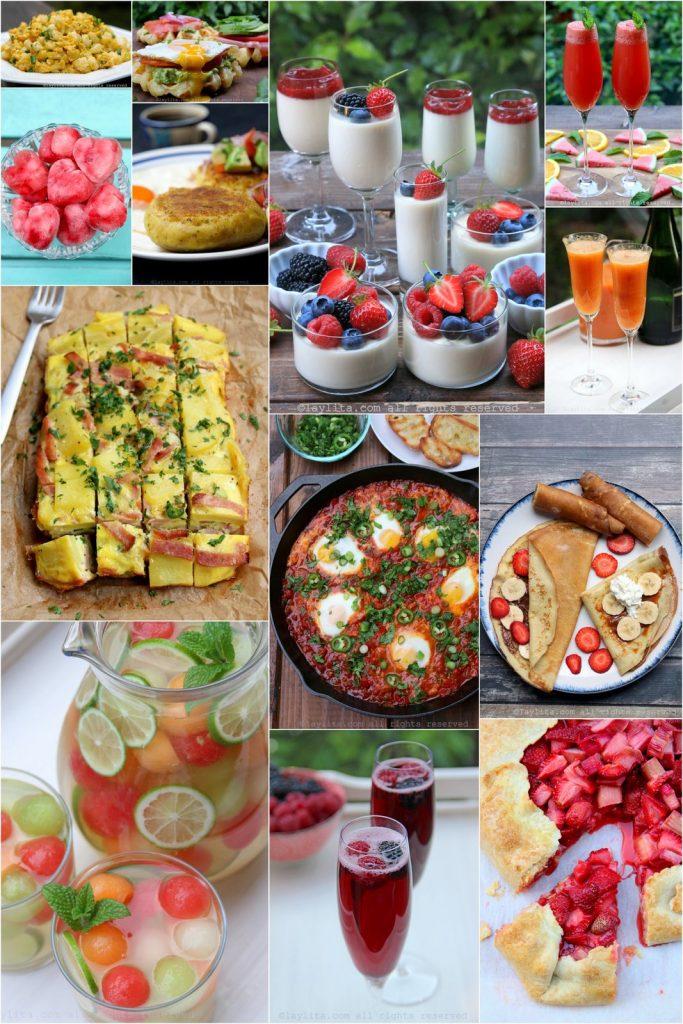 Desayuno y brunch para el menú del Día de la Madre