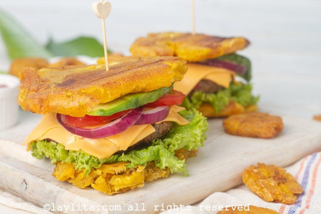 Receta de la hamburguesa de patacón