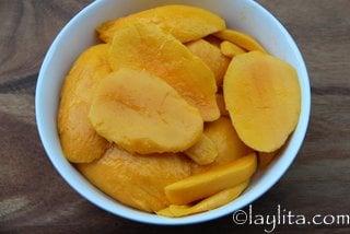Rodajas de mango