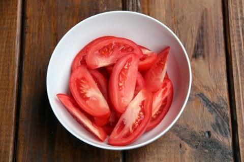 Tajadas de tomate para saltear
