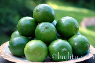 Limones para las caipiriñas o caipirinhas