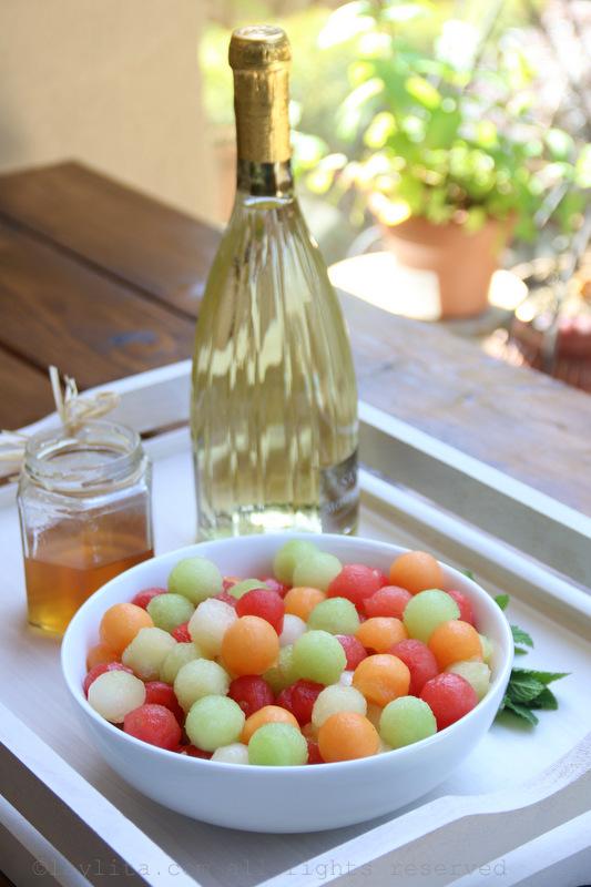 Sangria blanca con melon para el verano