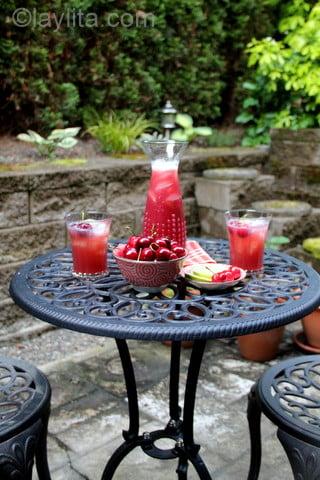 Limonada de cereza para el verano