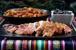 7 - Pavo con platos acompañantes