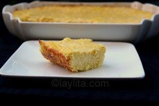 Pastel de choclo o pastel de humita ecuatoriano
