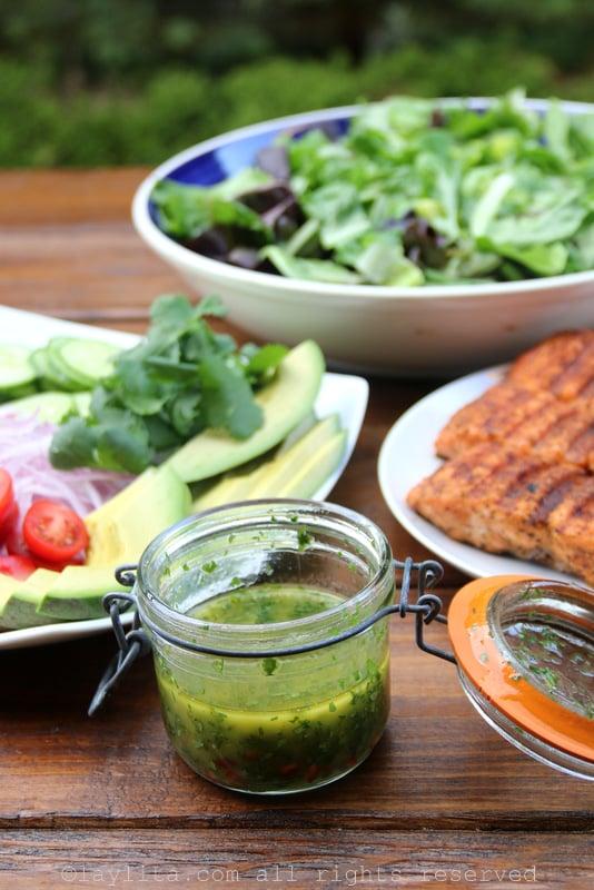 Aderezo de cilantro, limón y comino