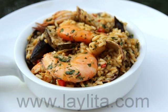 Receta de arroz marinero